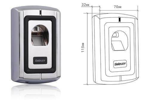 Original SEBURY F007-2 Fingerprint Scanner, Türöffner, Toröffner, Biomterie, Zutrittskontrolle, Access Control, NEUES Modell F007-2 (Version 2) von Navi-NEC Gärtner