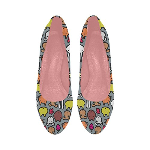 11 5 Cats Color2 High InterestPrint Butterfly Wedge Flowers Cartoon Prin Cute Heel Shoes On Womens Size Pattern Pumps wZ8FHa