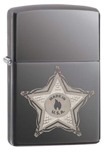 Zippo Stamp Street (Zippo Skull Badge Pocket Lighter)