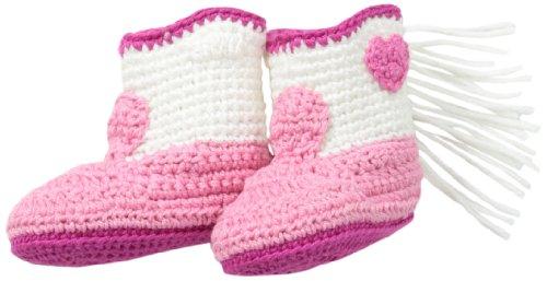Jefferies Socks Baby-Girls Newborn Cowboy Boot Bootie, Pink, Newborn ()