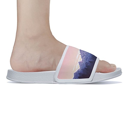 Sky Quick Slippers Summer Slip Beautiful amp; Non Scenery Slippers Mountain for White Womens Drying qaxxwfvn