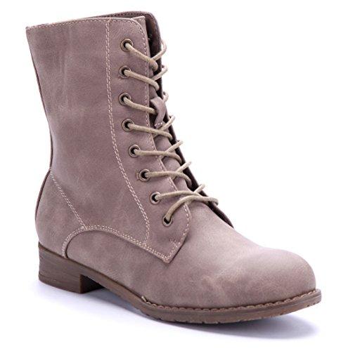 68d1e9da3d1bc9 Schuhtempel24 Damen Schuhe Klassische Stiefeletten Stiefel Boots  Blockabsatz 3 cm Khaki