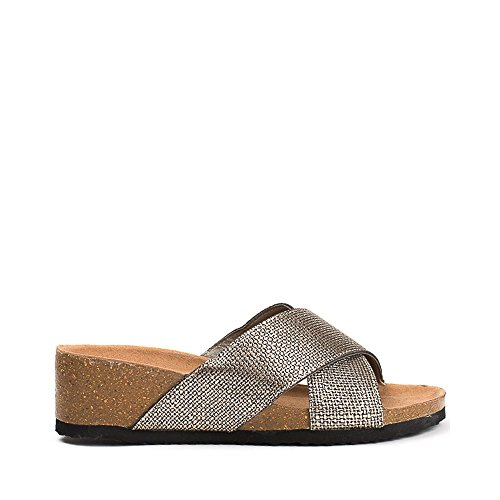 Ideal Shoes, Damen Zehentrenner Bronze