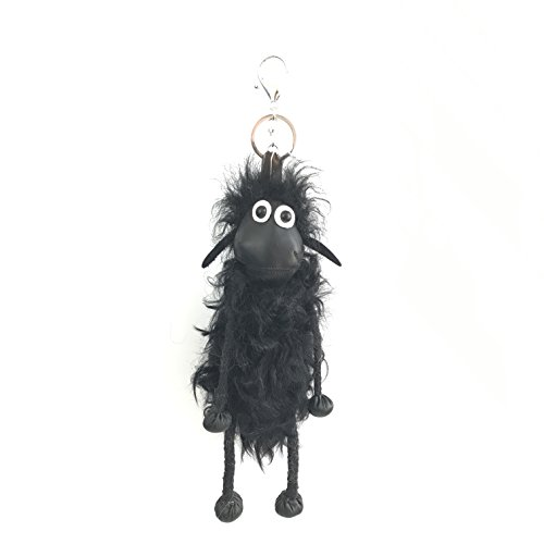 Sheep Key Chain Pompom Real Lambs Wool Fur Doll Genuine Keychain Pendant Natural Fur