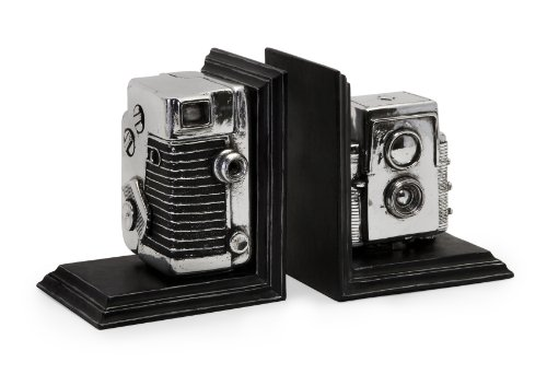 Storage Bookends - IMAX 36133 Vintage Camera Bookends - Decorative Bookends, Storage Boxes, Book Holders. Home Decor Accents