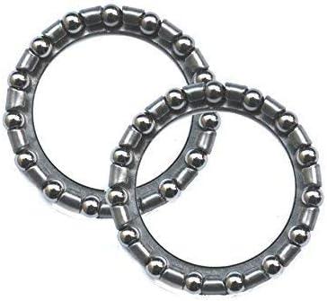 maxxi4you 2 pieza bicicleta Rodamiento de Bolas Acero al carbono rodamiento de dirección – Cuenco (Diámetro: 39 mm 3/16