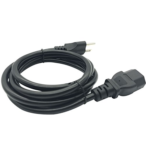 Apoi Computer Cable Cord[2 Pack] 6ft 18 AWG Universal Power Cord NEMA 5-15P to IEC320 C13 [UL Listed] 1.8m – Black by Apoi (Image #2)