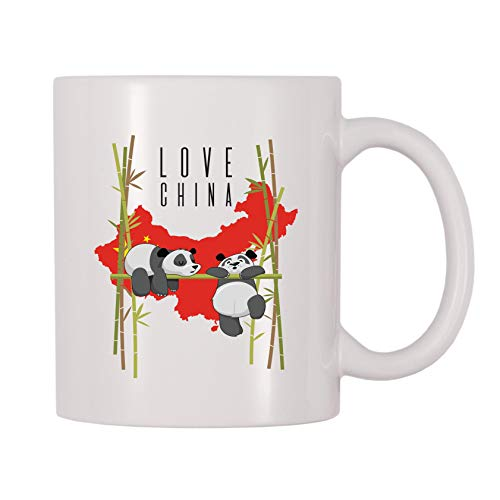 4 All Times Love China Panda Bear Coffee Mug (11 oz)