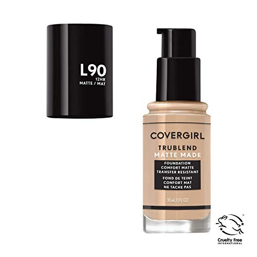 Covergirl Trublend Matte Made Liquid Foundation, L90 Classic Beige, 1.014 Ounce