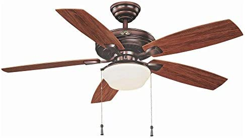 Hampton Bay Gazebo II 52 in. Indoor/Outdoor Weathered Bronze Ceiling Fan