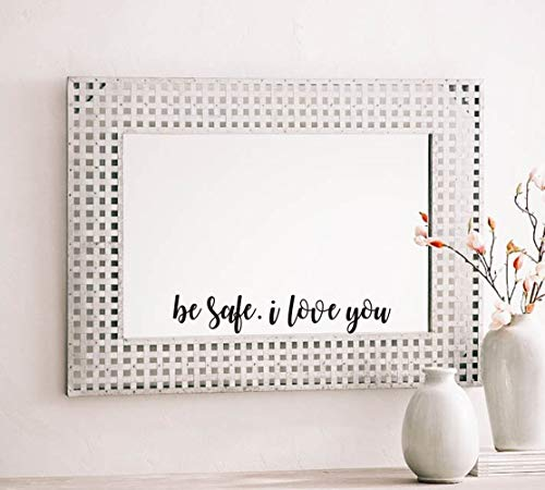 Be Safe. I Love You Romantic Wall Sticker Love You Decal,(Black) Quote Sayings Vinyl Couple Wall Decal for Family Couple Lovers Room Wall Decor