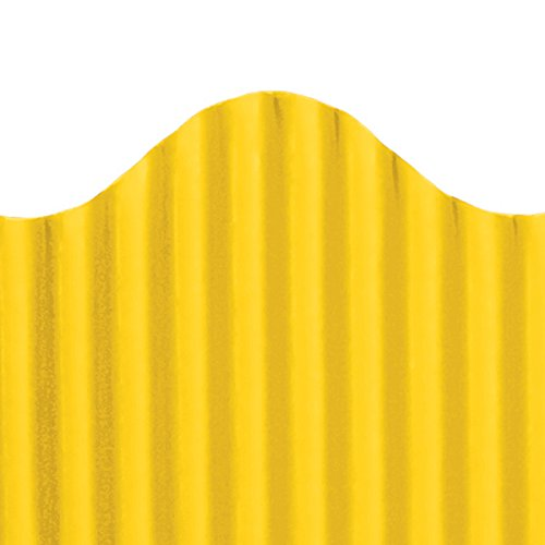 Top Notch Teacher Products Corrugated Border, Gold, 2 1/4