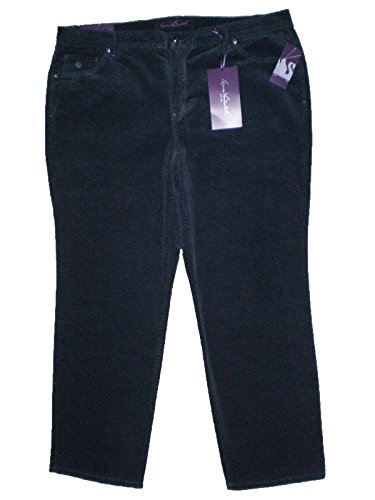 Gloria Vanderbilt Woman's Plus Size Classic Fit Amanda Corduroy Pants - 26W Short,  Smokey Eyes