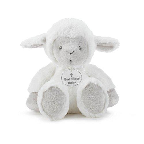 Cross Bless God Baby (Nat and Jules God Bless Baby Cross Serenity Lamb Bright White Children's Plush Stuffed Animal)