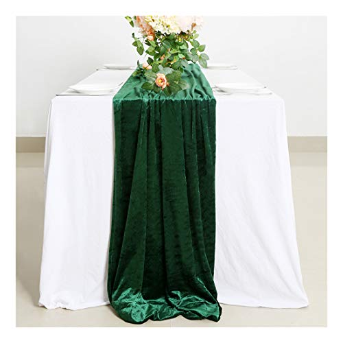 Table Runners Velvet Cotton Table Runner Emerald Velvet Aisle Runner Wedding Table Runner Green Birthday Bachelor Party Holiday Party Event Supplies (Green Velvet Tablecloth)