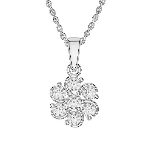 Or blanc/or/Rose/Jaune/Or/Platine Diamant Collier grappe agdnc-1018-vsgh
