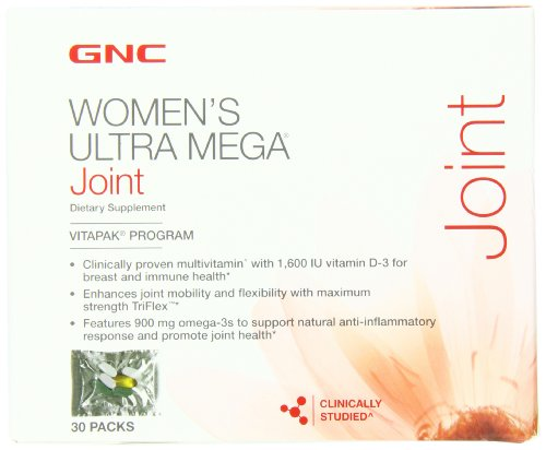 GNC Womens Ultra Mega Joint vitamine Pack, 30 Count