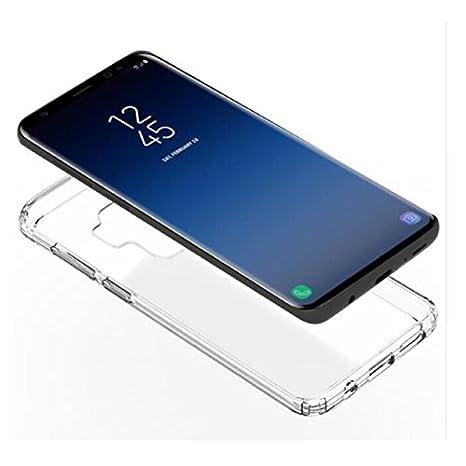 Coque Samsung Galaxy S9 PLUS 4G Protection intégrale 360 degrés arrière et  avant TPU transparente smartphone