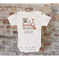 Choo Choo Train Personalized Onesie®, Toy Train Shirt, Custom Baby Onesie, Cute Baby Clothes, Boho Baby Bodysuit, Baby Shower Gift, Boho Boys Outfit