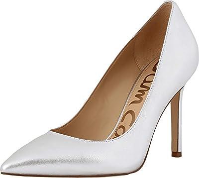 Sam Edelman Women's Hazel Soft Silver Metallic Sheep Leather Shoe