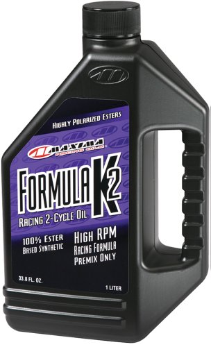 Maxima (22901) Formula K2 2-Stroke Synthetic Premix Racing Oil - 1 Liter Bottle