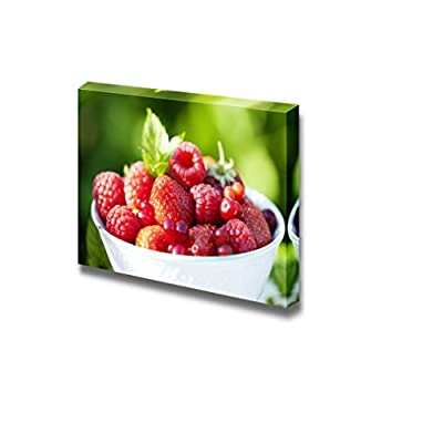 Canvas Prints Wall Art - Closeup of Fresh Ripe Berries Fruits Photograph | Modern Wall Decor/Home Decoration Stretched Gallery Canvas Wrap Giclee Print & Ready to Hang - 24