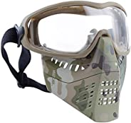 H World Shopping Airsoft Tactical Paintball Face Mask with Goggles MC (CL)