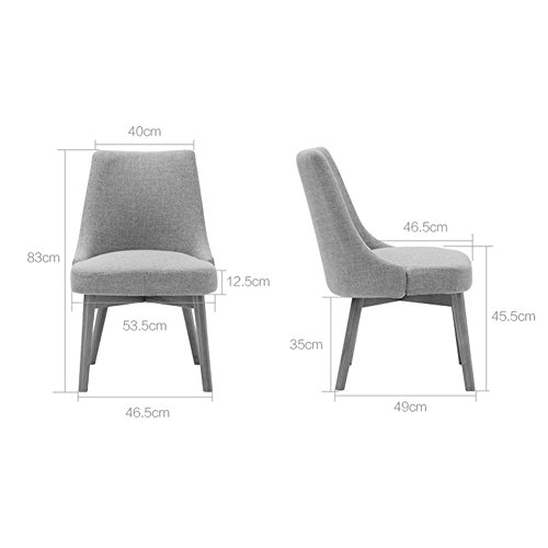 dd4e4587645a6 Amazon.com: JUNZH Wooden Dining Chair SOHO Negotiating Chair PU Easy ...
