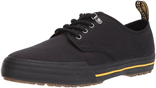 Dr. Martens Unisex Pressler Canvas Lace Up Trainer Shoe Black-Black-3 Size 3