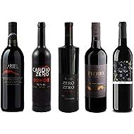 Red Wine Sampler - Five (5) Non-Alcoholic Wines 750ml Each - Featuring Ariel Cabernet Sauvignon, Cardio Zero Red, Rosso Dry, Prestige Merlot Rouge, and Tautila Tinto