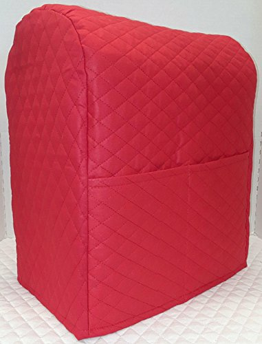 Penny's Needful Things Quilted Cover Compatible with Kitchenaid Stand Mixer (Red, 4.5,5,6qt Lift Bowl)
