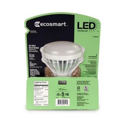 Ecosmart Br30 9-watt (65w) Soft White (2700k) Led Flood Light Bulb