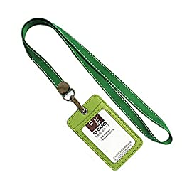 Fashion Work Card Holder Credit Card Case With 2 Card Slots, Green