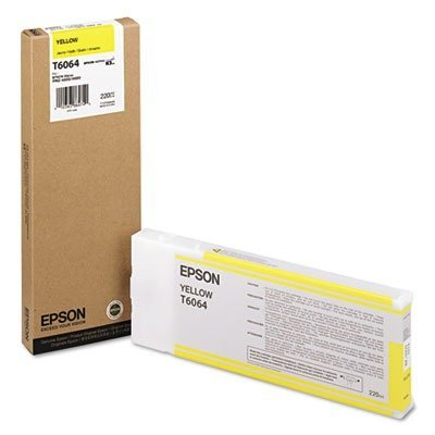 5 X Epson UltraChrome K3 Ink Cartridge - 220ml Yellow (T606400)