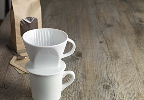 Aerolatte Pour Over Coffee Dripper Reusable Filter Cone Brewer, Number 4-Size, Brews 8 to 12-Cups by aerolatte (Image #1)
