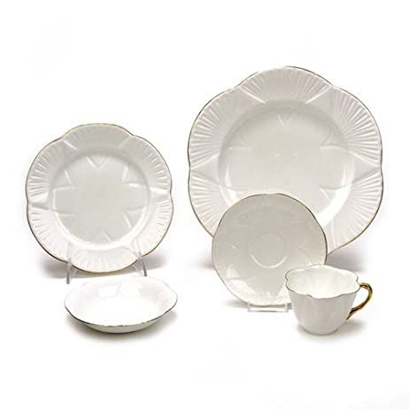 Regency by Shelley China 5-PC Setting Dinner Gold Trim  sc 1 st  Amazon.com & Amazon.com | Regency by Shelley China 5-PC Setting Dinner Gold ...