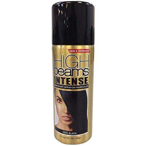 High Beams Intense Temporary Spray On Hair Color - #20 Black Aerosol 2.7 (Black Beams)