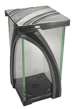 Glas wei/ß Grablampe A0676 Aluminium Glaszylinder w/ählbar Grablaterne