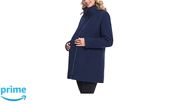 Be Mammy Premamá Abrigo Chaqueta Embarazo Maternidad Ropa Invierno Mujer BE20-174(Azul Oscuro, 34): Amazon.es: Ropa y accesorios