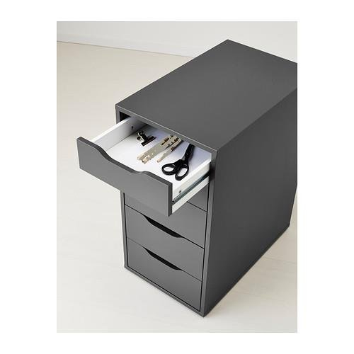 Ikea Alex Drawer Unit, 14 1/8 '' x 27 1/2 '' (gray)