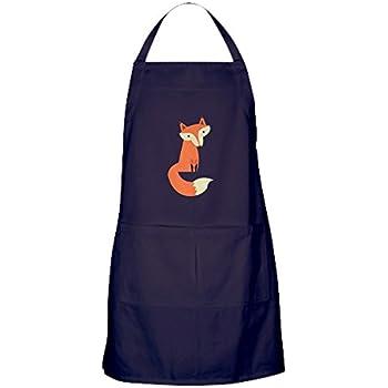 new style 97487 386cb CafePress Fox Apron (Dark) Kitchen Apron with Pockets, Grilling Apron,  Baking Apron