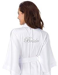 SIORO Personalized Kimono Robe Satin Bridesmaid/Flower Girl Wedding Party Gowns