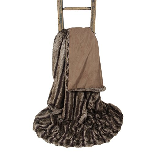 Breckenridge Luxury Faux Fur Throw Blanket (71 x 55 inches)