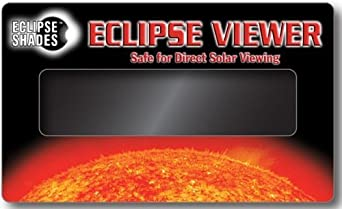 Solar Eclipse Viewer For Also Viewing Sunspots, Solar Flares, Transit of Venus 2012-3 inches x 5 Inches (5 Pack) Hand-held Card by Rainbow Symphony