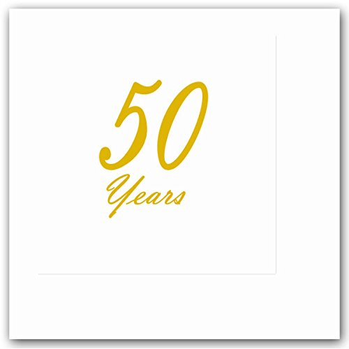 50-YEARS-CLASSY-GOLD-BEVERAGE-NAPKIN-16-CT-by-Partypro