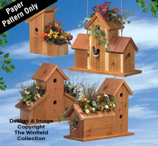 (Cedar Birdhouse Planters Wood Plan)