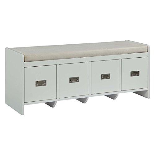Acme Furniture 96775 Berci White Bench with Storage