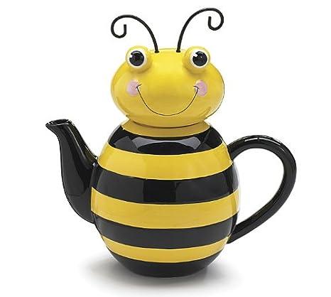 Amazon.com | Honey Bumble Bee Teapot For Adorable Kitchen Decor: Teapots
