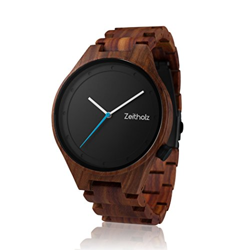 Wooden Watch for Men - 100% Natural Sandalwood Case - Water Resistant - Eco-Friendly - Unique Watches for Men