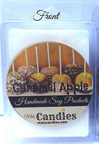 Caramel Apple Candle Tarts - Caramel Apple - 3.4 Ounce Pack of Soy Wax Tarts - Scent Brick Wickless Candle Tart Warmer Wax